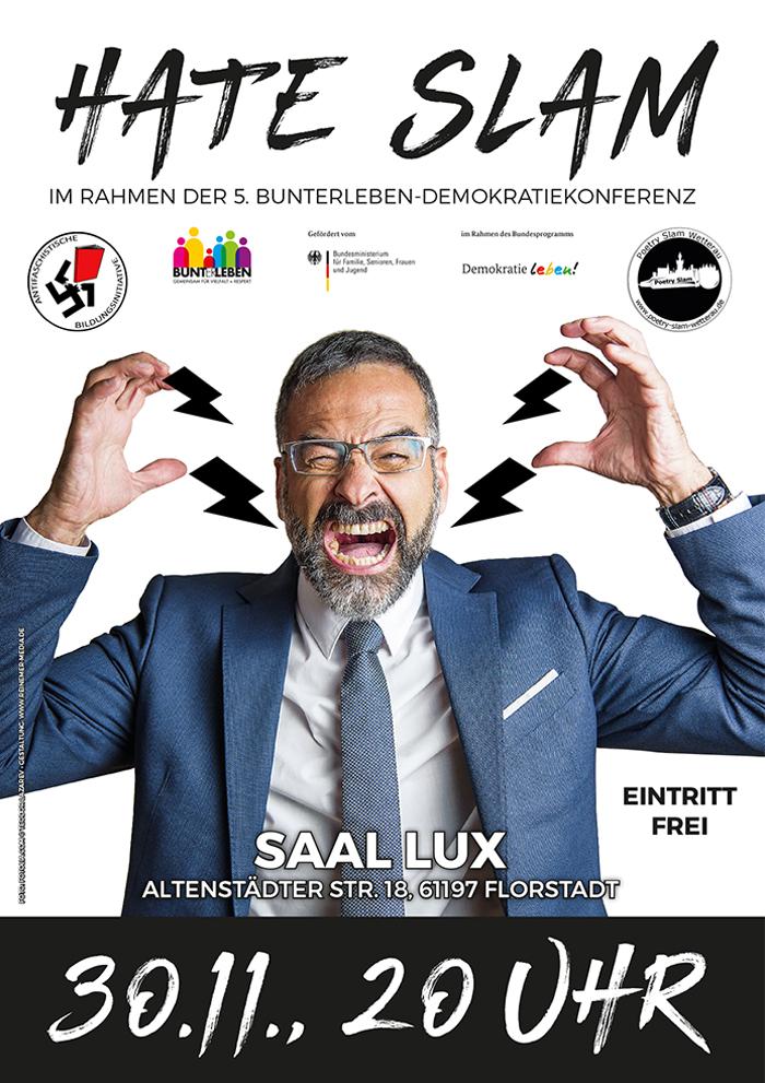 Hate Slam im Rahmen der 5. Bunterleben-Demokratiekonferenz